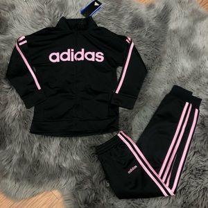 Adidas Girls' Track Set: Baby Pink (PM940)